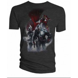 The Avengers: - Comic Captain America, Thor, Iron Man Grey - T-Shirt EXTRA EXTRA LARGE
