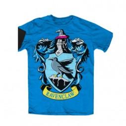 Harry Potter - Hogwarts Crests - Casate - Corvo Nero Sfondo Celeste (Ravenclaw) T-shirt MEDIUM