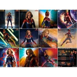 Mezco Toys - One Twelve Collective - Marvel Comics - Captain Marvel Movie - Captain Marvel - Action Figure - Cloth Versi