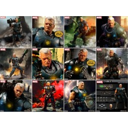 Mezco Toys - One Twelve Collective - Marvel Comics - Classic Comic Version - X-Men - Cable - Action Figure - Cloth Versi