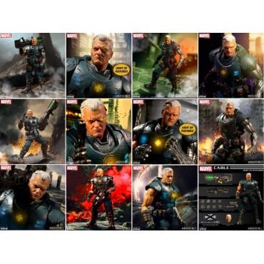 Mezco Toys - One Twelve Collective - Marvel Comics - Classic Comic Version - X-Men - Cable - Action Figure - Cloth Versi