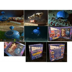 SPACE 1999 - SPAZIO 1999 - Earthbound Eagle DIE CAST DELUXE Set Ep. Earthbound - Modello Assemblato Limited Episode