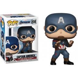 POP! Marvel 450 The Avengers Endgame Captain America With Mjolnir and Broken ShieldVinyl Bobble-Head Figure
