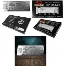 Jurassic Park - 1:1 Prop Replica - Pure Silver .999 Plated - Opening Weekend VIP Ticket - Biglietto Apertura Parco VIP