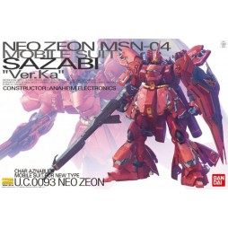 MG Master Grade - NEO ZEON MS-04 Mobile Suit SAZABI Ver.Ka Char Aznable\'s Mobile Suit For New Type U.C.0093 1/100