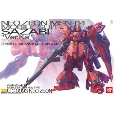 MG Master Grade - NEO ZEON MS-04 Mobile Suit SAZABI Ver.Ka Char Aznable\'s Mobile Suit For New Type U.C.0093 1/100