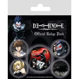 Death Note - Pin Badges SET - SET Spille Personaggi e loghi