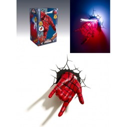 Marvel - Spider-Man - 3D Ambient Light - Spider-Man Hand With Fiber Optics Web Shooter - Maschera Spider-Man