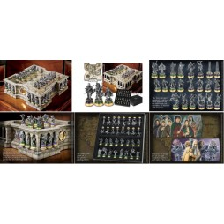 Lord Of The Rings - The Fellowship Of The Ring - Pewter and Porcelaine Chess Set - Set Completo Scacchiera Da Collezione