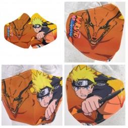 Naruto Shippuden - Mascherina con Akatsuki - Facemask Mask Naruto & Kurama