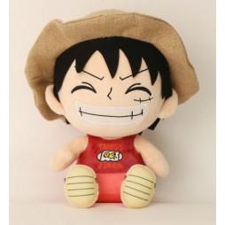 One Piece Plush - Luffy Tamko Giken Rubber Cappello di Paglia - Peluche 25 cm