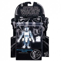 Star Wars - The Black Series - 3.75 Inch Action Figure - #12 - Clone Wars - Clone Commander Wolffe - Hasbro