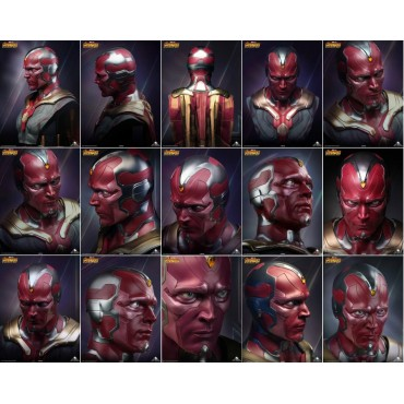 [PREORDER] Marvel Comics - Avengers - Vision Life Size Bust 1:1 - 398 pz./Mondo