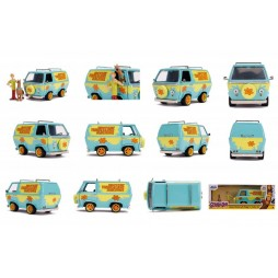 Hanna & Barbera - Scooby Doo - Hollywood Rides - The Mistery Van with Shaggy and Scooby Figures - 1/24 Scale - Die Cast
