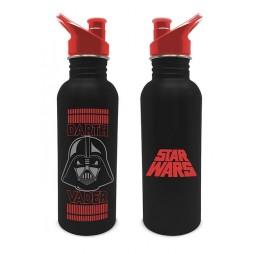 Star Wars - Stainless Steel Water Bottle - Borraccia In Acciaio Inox - Darth Vader Helmet & Star Wars Logo Red on Black