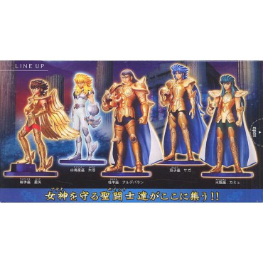 Saint Seiya - Agaruma (Saint Agalma II) part II - Trading Figure SET - Complete Set of 5 + 2xSecret Specials