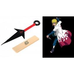 Naruto - Cosplay - Minato - Kunai del Trasferimento Istantaneo 26 cm Con Scatola - Red Vers