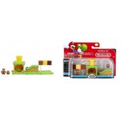 WORLD OF NINTENDO - Mario Bros U Micro Land 3 PACK Wave 1 - Acorn Plains e Flying Squirrel Mario Figure Diorama - Mini -