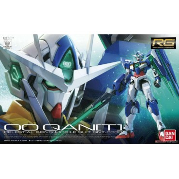 RG Real Grade - 21 Celestial Being Mobile Suit GNT-OOOO 00-QAN[T] Mobile Suit 1/144