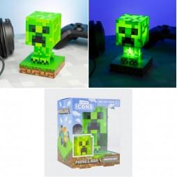 Minecraft - Lampada Da Muro 3D Icon Light - Character Sculpt 3D Decor Led Lamp - Creeper