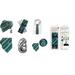 HARRY POTTER - Set Cravatta e Spilla Serpe Verde Edizione Deluxe - Verde - With Slytherin Crest and Pin