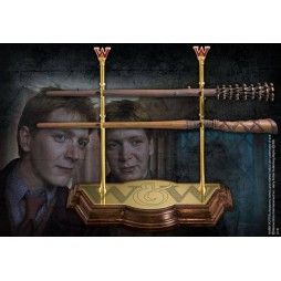 HARRY POTTER - Bacchetta Magica Harry Potter Wand - Weasley Twins Fred and George Wand Set of Two - Noble Collection NN7
