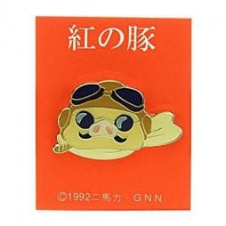 Porco Rosso - Metal Pin Badge - Spilla Personaggio - Porco Rosso Face