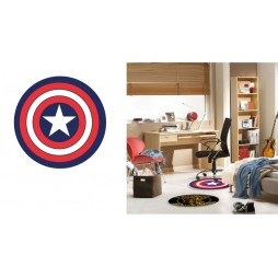 Marvel Comics - Captain America - Carpet - Tappeto Circolare Scudo Capitan America - Captain America\'s Shield