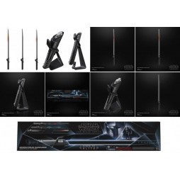 Star Wars - Black Series - Force FX ELITE Lightsaber With Removable Blades - The Mandalorian - Mandalore Dark Saber Ligh