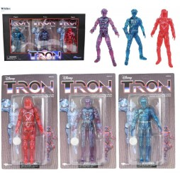 Tron - The Movie - Diamond Select - San Diego ComiCon 2021 PX Exclusive - Tron, Flyn, Sark Deluxe Action Figure Complete