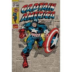 Marvel Comics - Poster - Captain America Poster Retro