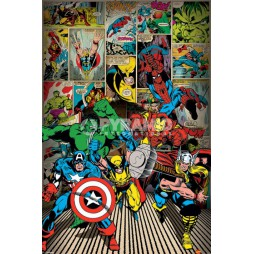 Marvel Comics - Poster - Here Come The Heroes