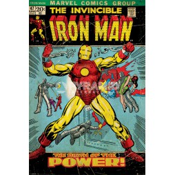 Marvel Comics - Poster - Iron Man - Retro Comic nr. 47 BIRTH OF POWER