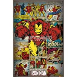Marvel Comics - Poster - Iron Man Retro