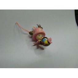 One Piece - Strap - Deformed Figure Celphone Strap - Easter Chopperman - SET - Chopper Cesto Uova