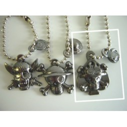 One Piece - Strap - Keychain - Metal Charme 2 DARK Vers. - SET - ACE