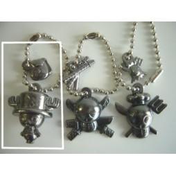 One Piece - Strap - Keychain - Metal Charme 2 DARK Vers. - SET - CHOPPER