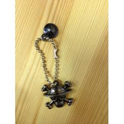 One Piece - Strap - Keychain - Metal Charme 2 DARK Vers. - SET - RUBBER LUFFY