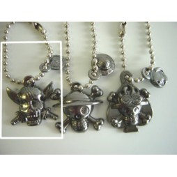 One Piece - Strap - Keychain - Metal Charme 2 DARK Vers. - SET - SHANKS