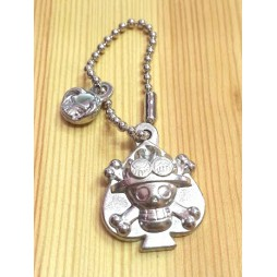 One Piece - Strap - Keychain - Metal Charme 2 SILVER Vers. - SET - PORTGAS D. ACE