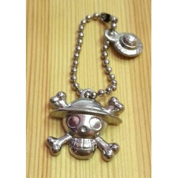 One Piece - Strap - Keychain - Metal Charme 2 SILVER Vers. - SET - RUBBER LUFFY