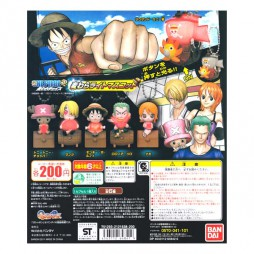 One Piece - Strap - Keychain - Mugiwara Chase Light Mascot - SET - Complete Set of 6
