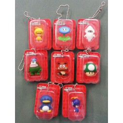 Super Mario - Keychain - Blister Figure Set - Complete Set Of 8