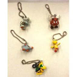 Super Mario - Keychain - Enemies - Set - Complete Set Of 5