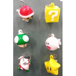 Super Mario Bros Wii - Keychain - Light Up Figures Vol. 1 Set - Complete Set Of 6