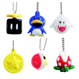 Super Mario Bros Wii - Keychain - Light Up Figures Vol. 2 Set - Complete Set Of 6