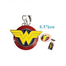 Dc Comics - Keyring - 2D Metal - Wonder Woman Rotating Colored Logo