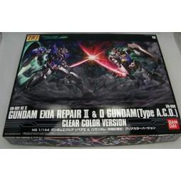 HG Double 0 - Gundam Exia RepairII & 0 Gundam [Type A.C.D.] 1/144 Clear Color Ver.