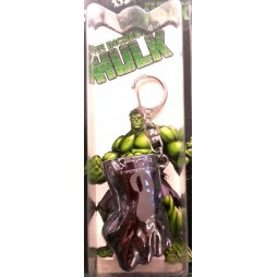 Marvel Comics - Keyring - 3D Metal Silver Plated - The Incredible Hulk - Pugno