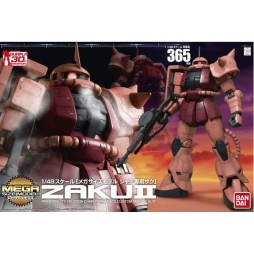 MEGA SIZE Model 365 - Zaku II MS-06S (Red Comet) Mega Size 1/48